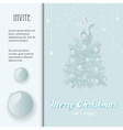 Christmas invite with bauble and tree vector