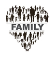 Conceptual background with happy family vector image