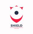 modern minimalistic emblem shield vector image