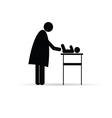 mother change baby silhouette vector image