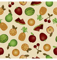 seamless fruits vector image
