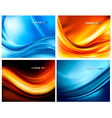 set of abstract elegant neon backgrounds vector image