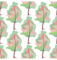 Abstract art tree seamless pattern vector image