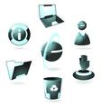 Hi-tech icons vector image