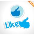 Social media wording - - EPS10 vector image vector image