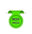 bookmark with best price message vector image