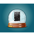 Cell phone in snow globe vector image vector image