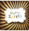 easter rays vector image