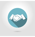icon shaking hands vector image