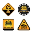 Taxi cab set stickers vector image vector image