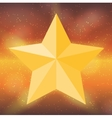 Silhouette of Beautiful Star on Sky Background vector image vector image