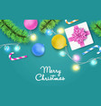 colorful christmas and new year background vector image