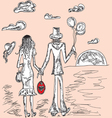 couple in love artistic background vector image