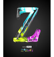 Design Light Effect Alphabet Letter Z vector image