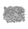 Doodle flowers vector image