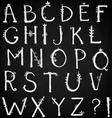 hand drawn alphabet doodle font vector image