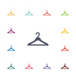 hanger flat icons set vector image
