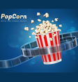 popcorn movie cinema object vector image
