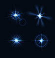 set of light flashes different shapes and project vector image
