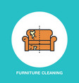 sofa repair line icon upholstered furniture dry vector image
