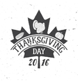 Thanksgiving Day 2016 vector image
