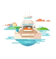 Yacht flat design vector image
