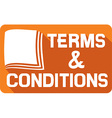 Terms and Conditions Sign Icon vector image