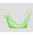 Transparent water splash vector image