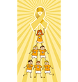 Childhood Cancer Ribbon on top of a Children Tree vector image