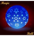 Magic ball vector image