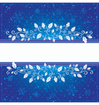 Winter blue card vector image vector image