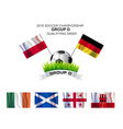 2016 SOCCER CHAMPIONSHIP GROUP D QUALIFYING DRAW vector image