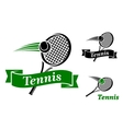 Tennis sports emblems vector image