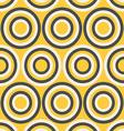Yellow and gray retro circles vector image vector image