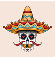 mexican skull vector image