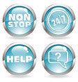 time buttons vector image vector image