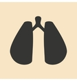 Flat in black and white mobile application lungs vector image