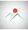 Abstract mountain with the sun on background vector image