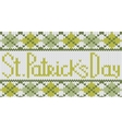 knitted pattern with rhombus for st patricks day vector image