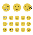 Emoticons Collection Set of Emoji Flat style vector image