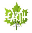 Happy Earth Day Poster Green leaf Leaf texture vector image vector image