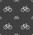 Bicycle bike icon sign Seamless pattern on a gray vector image