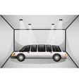 A limousine at the garage vector image