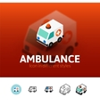 Ambulance icon in different style vector image