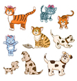 animals set vector image
