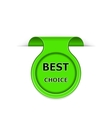 bookmark with best choice message vector image