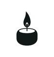 Candle simple black icon on white background vector image
