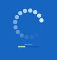load bar for mobile apps web preloader on blue vector image