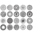 set of monochrome deco mandalas vector image
