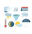 weather and climate icon set design vector image